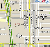 Ace Plastics - Location map